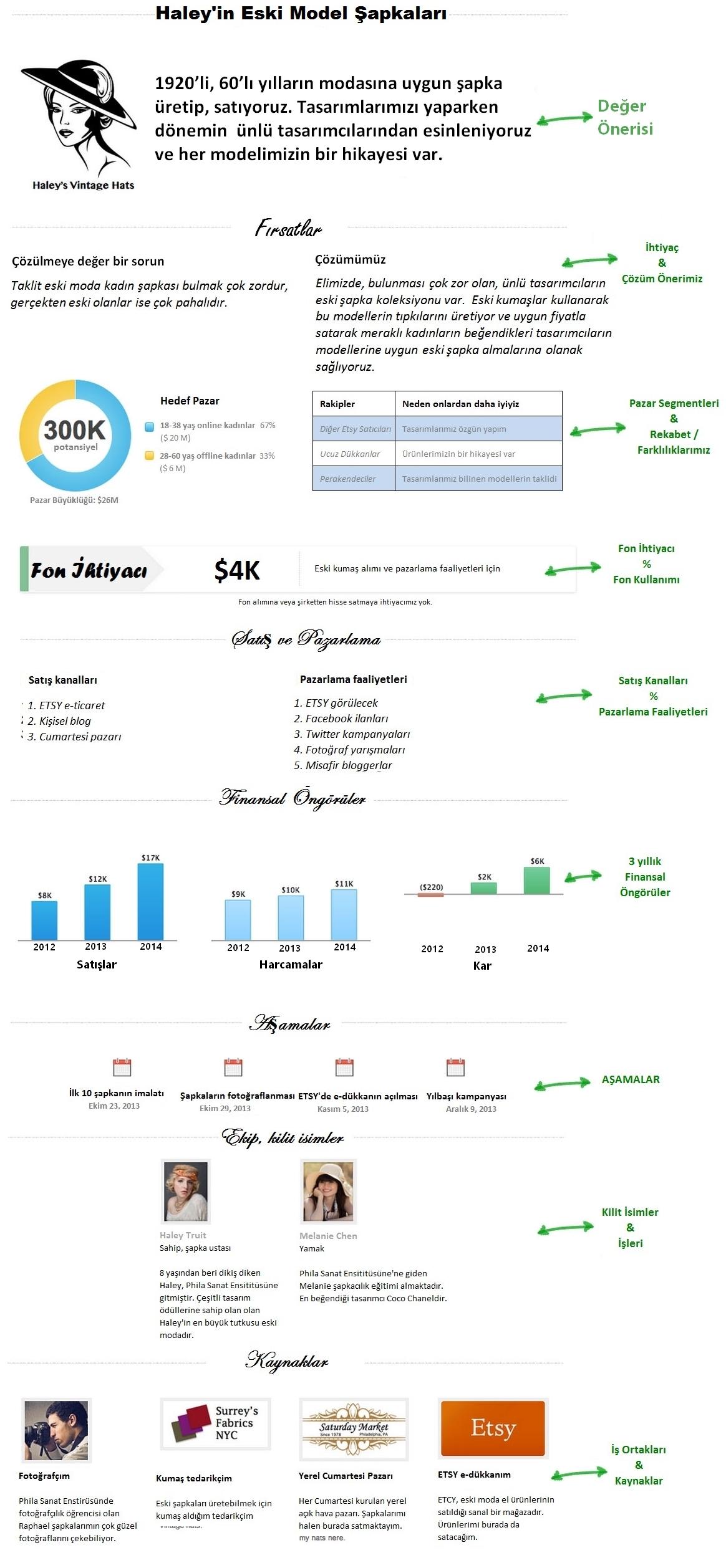 iş planı örneği, infografik